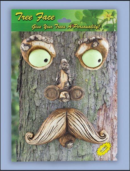 Mr Mustache Tree Face (4 PC SET)