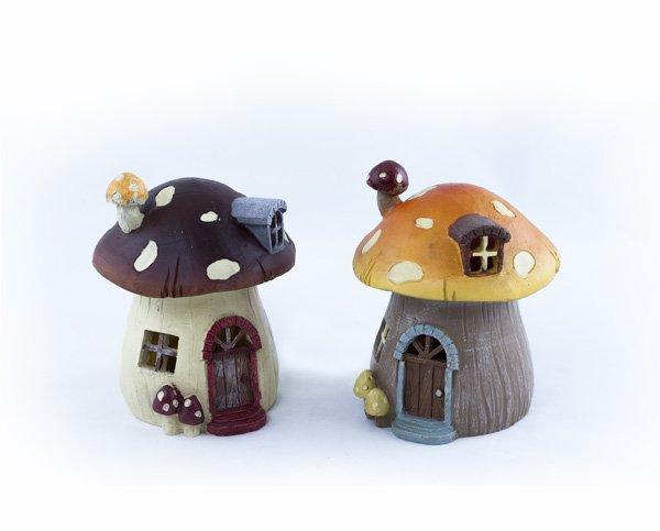 Lg Mushroom House with LED Light (6 PCS SET)