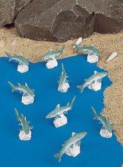 Mini Great White Shark (12 PC SET)
