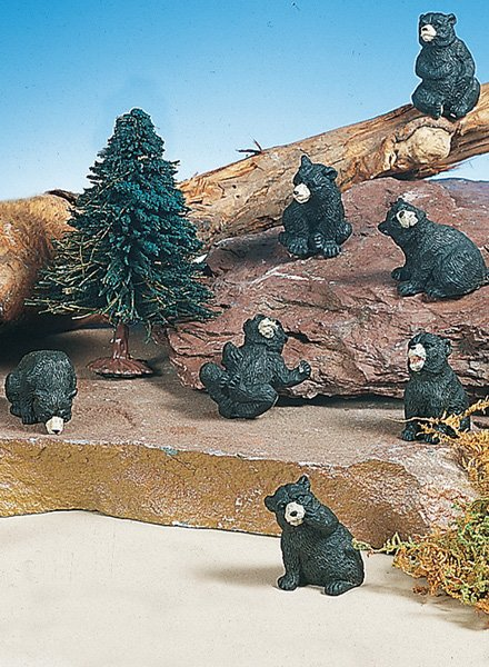 Mini Black Bear (12 PC SET)