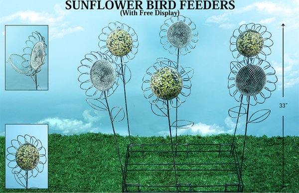 Sun Flower Bird Feeder (6 PCS SET)
