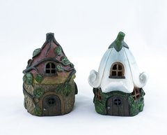 Decorative Leaf Fairy House with LED Light (6 PCS SET)