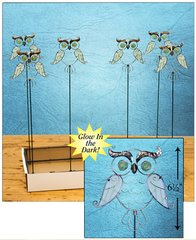 Owl Plant Stick with Free Display (24 PCS SET)