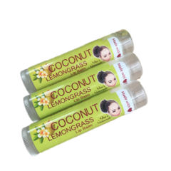 Coconut Lemongrass Lip Balm (Set of 3)