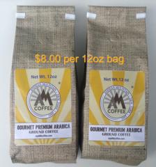 24oz Gourmet Premium Arabica Ground Coffee - 2 12 oz bags