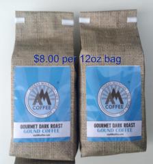 24 oz Gourmet Dark Roast Ground Coffee - 2 12oz bags