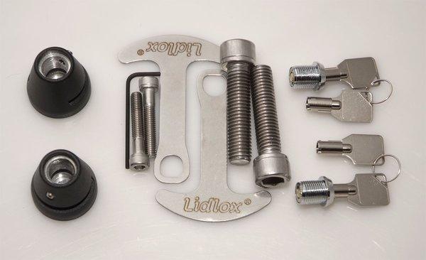 lidlox helmet lock for bmw f800r and s1000r, pair, black. | lidlox