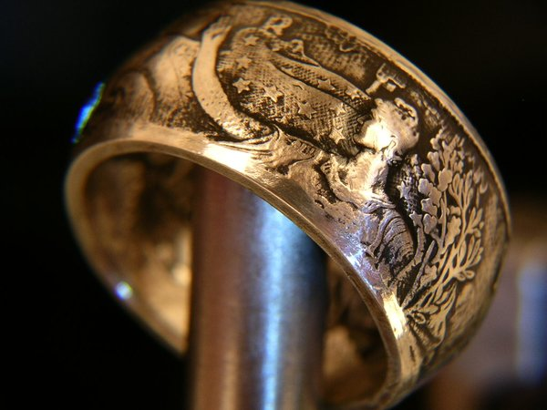 Silver American Eagle Coin Ring Bungalow D Coin Rings