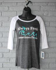 Always Fresh 3/4 Sleeve Tee (Black/White)