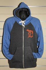 Detroit Michigan D Zip Up (Grey/Royal)