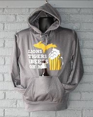 Lions Tigers and Beers Tailgate Hoodie (Charcoal)