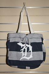 Detroit Michigan D Beach Bag (Navy/White)