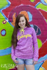 Ludington Neon Poly Fleece Hoody (Magenta/Neon Yellow)