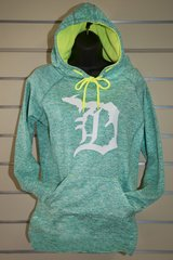 Detroit Michigan D Poly Fleece Hoody (Emerald)