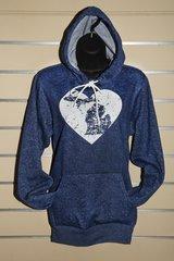 Michigan Heart Hoody (Digital Blue)