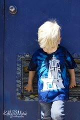 Ludington Lighthouse Toddler Tie-Dye Tee (Center 05)