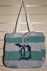 Detroit Michigan D Beach Bag (Jade/Navy)