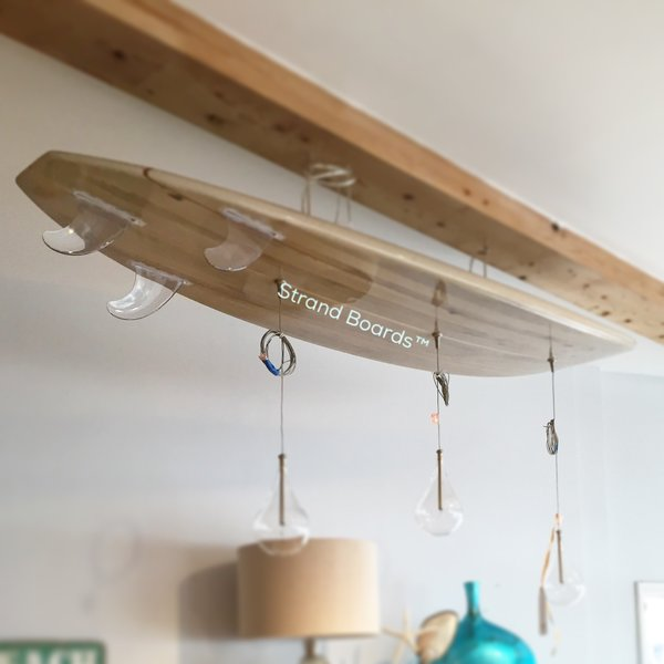 The pier surfboard chandelier strand boards surfboard for Diy outdoor shower surfboard
