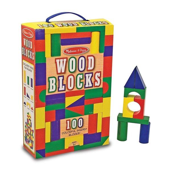 Melissa & Doug Wood Block Set (100 pcs)