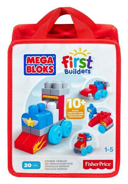 Mega Bloks First Builders Build N Learn Zooming Vehicles Bag