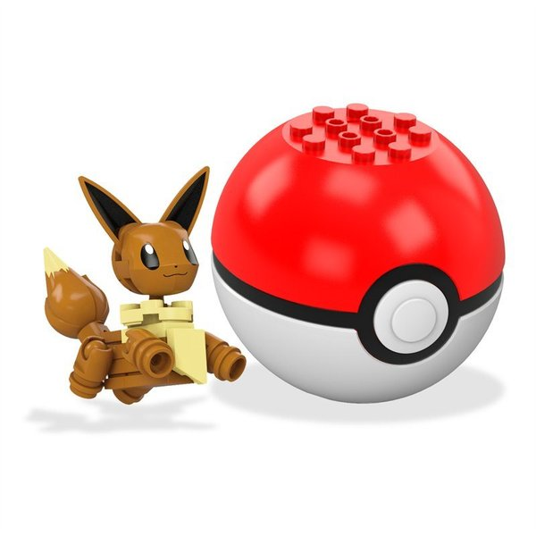 Mega Construx Pokemon Building Set: Eevee and Pokeball