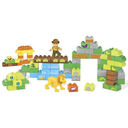 Mega Bloks Junior Builders Build-A-Safari Playset