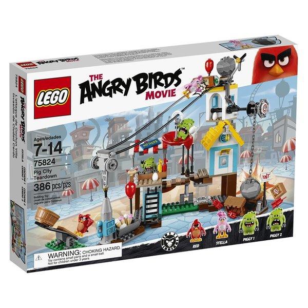 Lego Angry Birds Pig City Teardown 75824