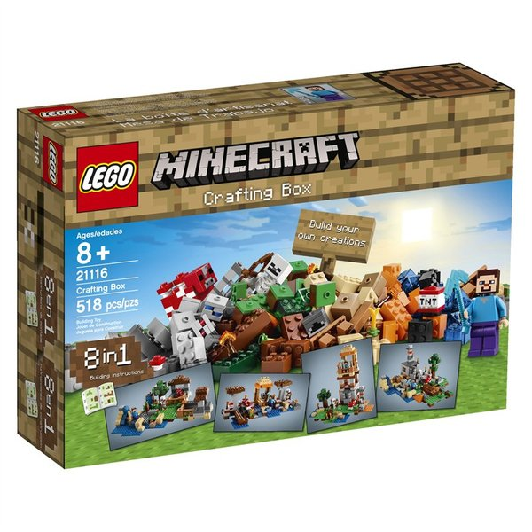 Lego Minecraft Crafting Box (8 In 1 Building Instructions) 21116