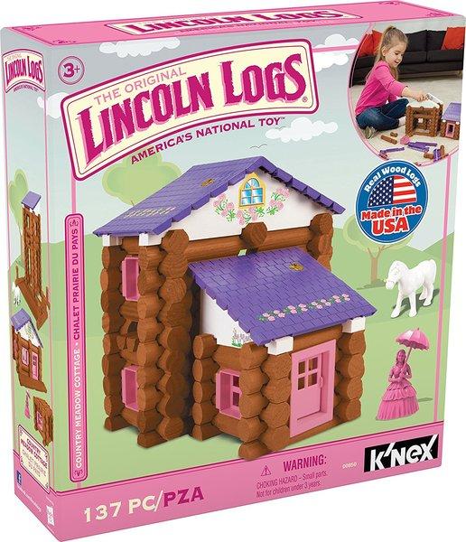K'Nex Original Lincoln Logs - Country Meadow Cottage Building Set (137 pieces)