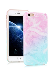 Unicorn Mix Marble Print Silicone iPhone 6/6s Case