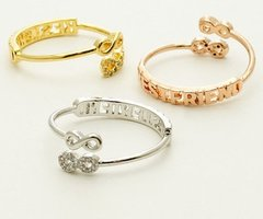 Infinity Best Friend Engraved Ring Gold Plated