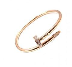Zircon Studded Nail Bracelet 18k Gold Plated