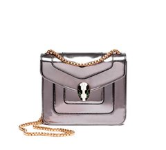Sila Snake Detail Crossbody Chain Bag Silver - Small (2 WEEKS DELIVERY)
