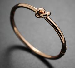 Knot Bracelet 24k Gold Plated