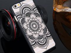 Boho Chic Mandala Black iPhone 6/s Case