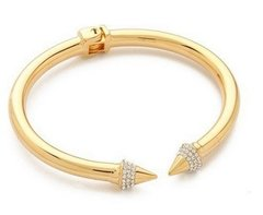 Double Cone Arrow Bracelet 18k Plated and Zircons