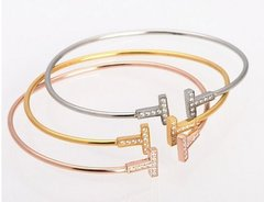 T Bangle 18k Gold Plated.