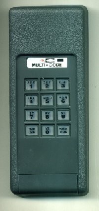 Stanley multi code by linear 310 mhz single wireless for 12 volt battery for garage door keypad