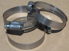 #32 Size Marine Grade Stainless Steel Worm Drive Hose Clamps