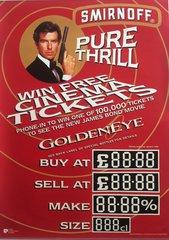 GOLDENEYE (1995) Smirnoff Advertising Tie-in