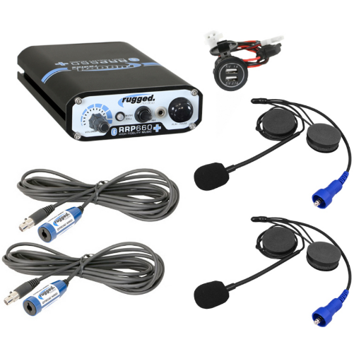 RRP660 PLUS 2-Place Intercom System with Alpha Audio Helmet Kits