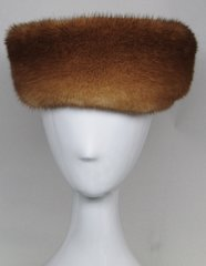 Headband - Genuine Whiskey Mink Fur Headband