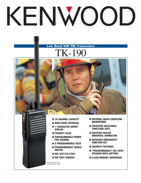 TK-190 Low Band VHF FM Transceiver