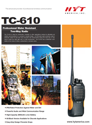 TC-610 Water Resistant Two Way Radio