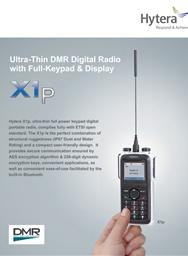 X1p -Ultra Thin DMR Digital Radio with Full Keypad & Display