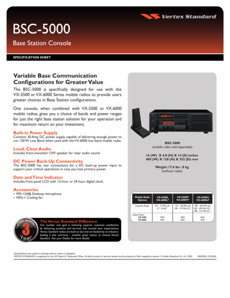 BSC-5000 Base Station Console