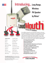 Loudmouth Wireless PA System