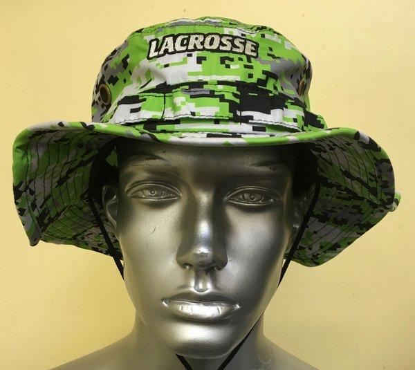 Lime Neon Green Lacrosse Digital Camo Bucket Hat