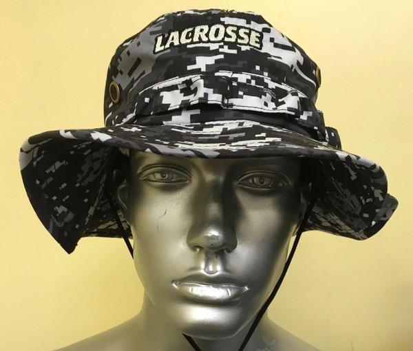 Black Lacrosse Digital Camo Bucket Hat