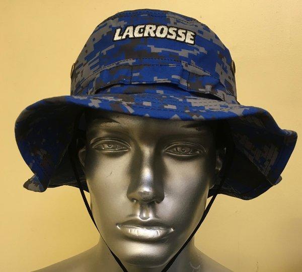 Royal Blue Lacrosse Digital Camo Bucket Hat